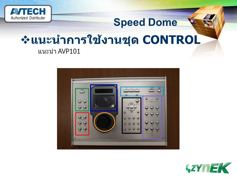 LOGO www.themegallery.com Speed Dome  แนะนำการใช้งานชุด CONTROL แนะนำ AVP101