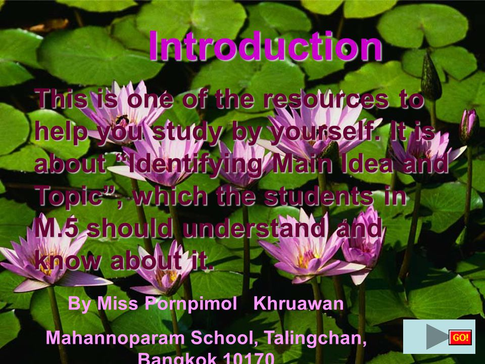Introduction This is one of the resources to help you study by yourself.