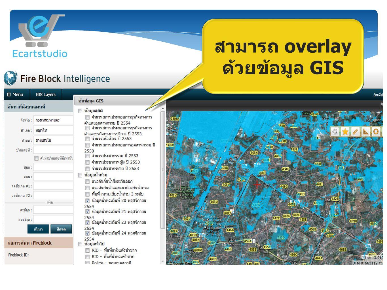 สามารถ overlay ด้วยข้อมูล GIS