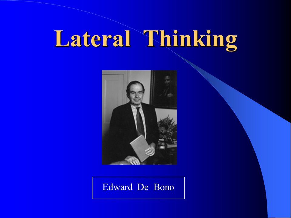Lateral Thinking Edward De Bono
