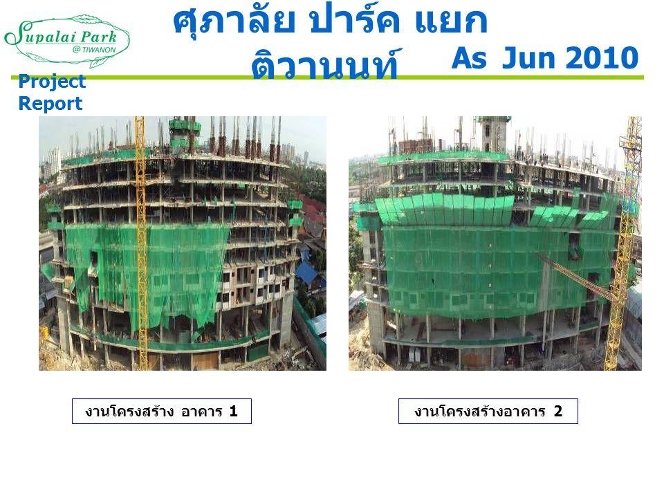 ภาพโครงสร้างอาคาร 3 ความก้าวหน้างานผนังบ่อน้ำดี As Jun 2010 ศุภาลัย ปาร์ค แยก ติวานนท์ Project Report งานเหล็กเสริมล่างบ่อ บำบัดน้ำเสีย อาคาร 3