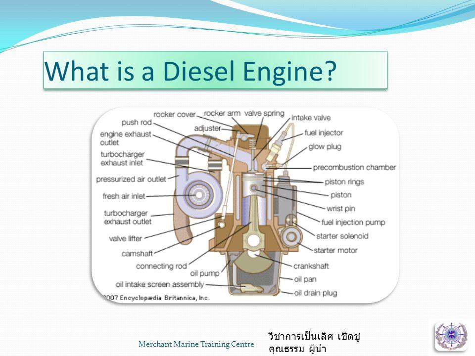 What is a Diesel Engine? Merchant Marine Training Centre วิชาการเป็นเลิศ เชิดชู คุณธรรม ผู้นำ