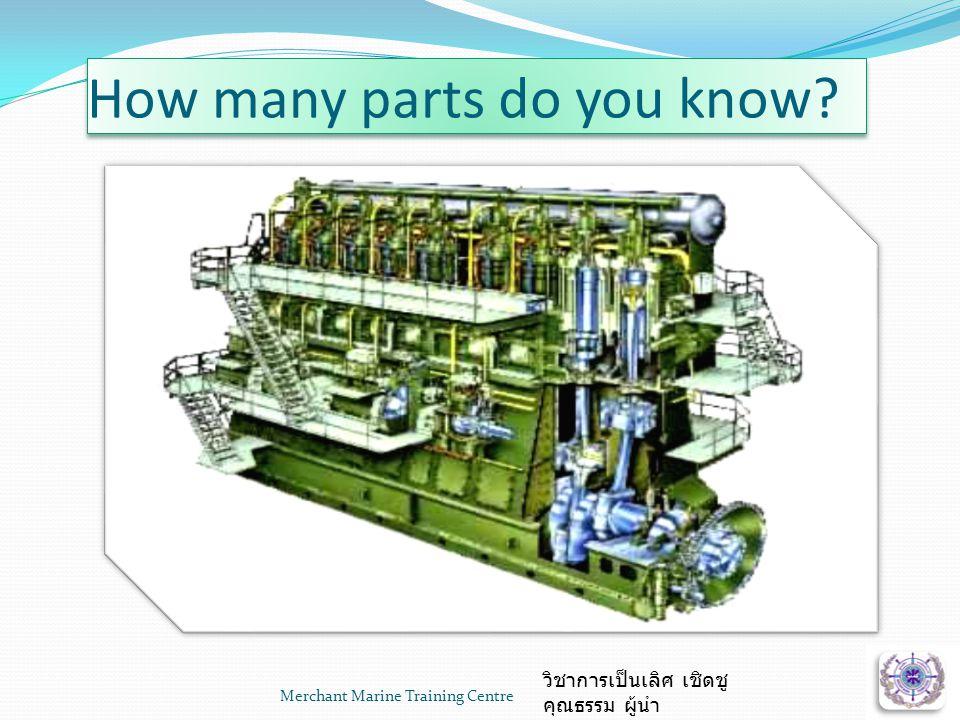 Merchant Marine Training Centre วิชาการเป็นเลิศ เชิดชู คุณธรรม ผู้นำ How many parts do you know?
