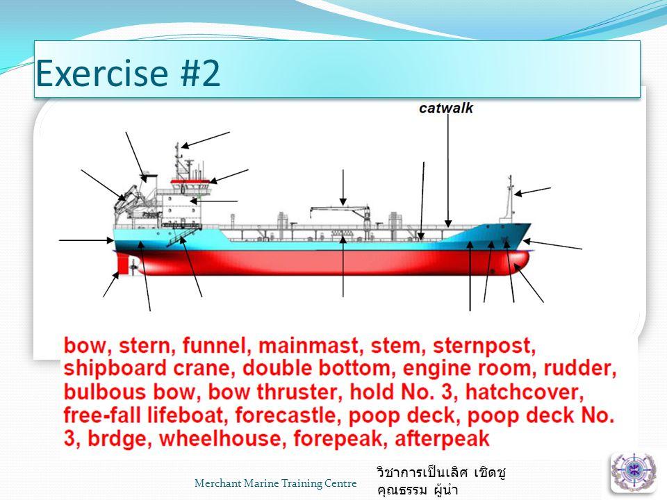 Merchant Marine Training Centre วิชาการเป็นเลิศ เชิดชู คุณธรรม ผู้นำ Exercise #2