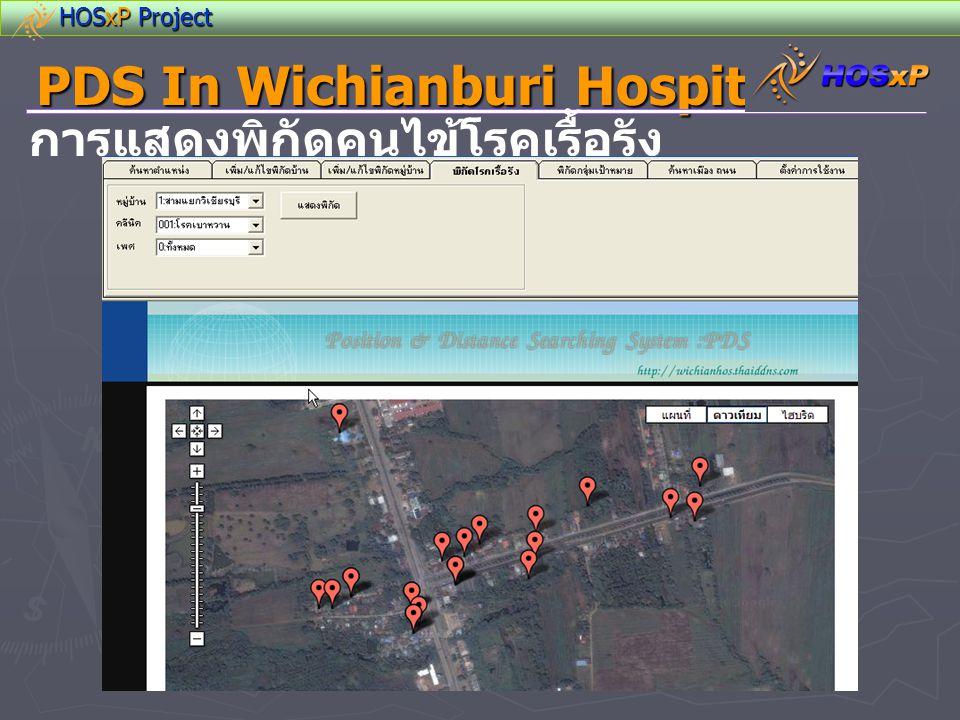 HOSxP Project PDS In Wichianburi Hospital การแสดงพิกัดคนไข้โรคเรื้อรัง