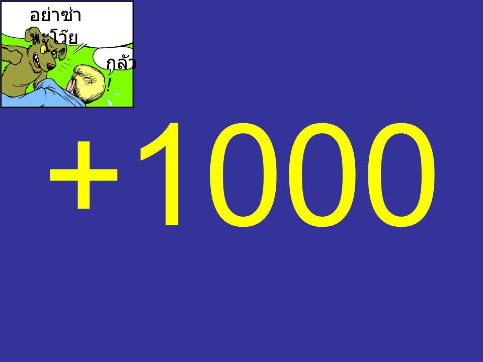 +1000 อย่าซ่า นะโว๊ย กลัว !