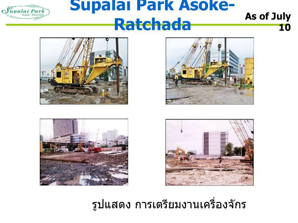Supalai Park Asoke- Ratchada As of July 10 รูปแสดง การเตรียมงานเครื่องจักร