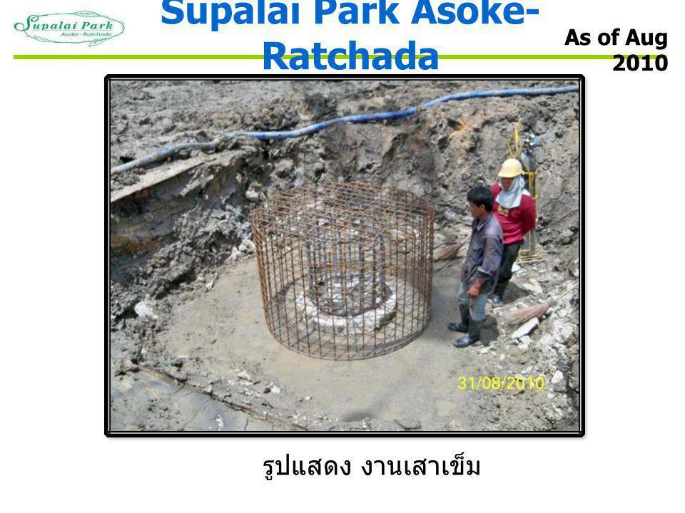 Supalai Park Asoke- Ratchada รูปแสดง งานเสาเข็ม As of Aug 2010
