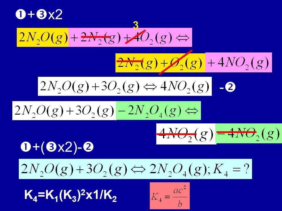  +  x2 -- 3  +(  x2)-  K 4 =K 1 (K 3 ) 2 x1/K 2