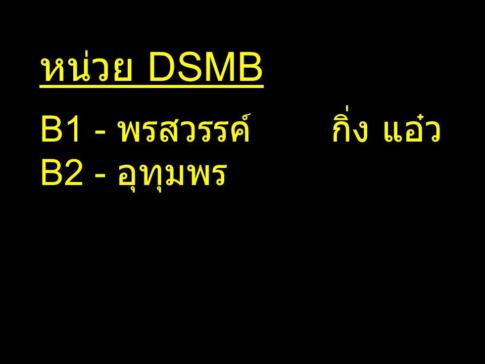 หน่วย DSMB B1 - พรสวรรค์กิ่ง แอ๋ว B2 - อุทุมพร