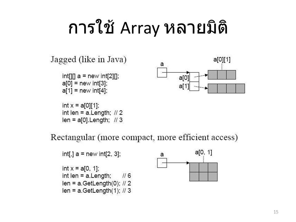 การใช้ Array หลายมิติ 15