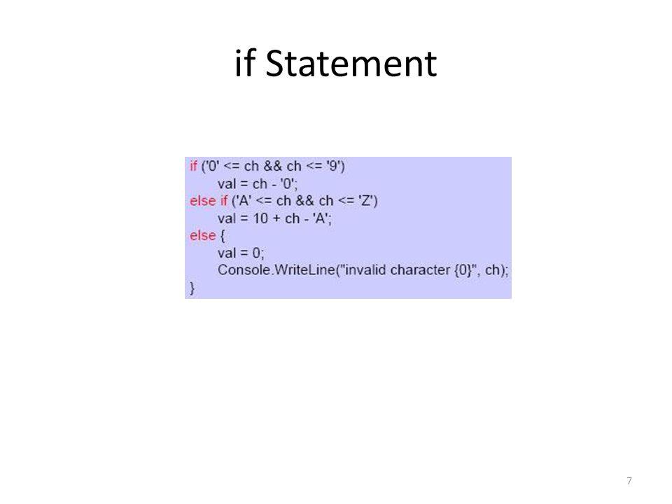 if Statement 7