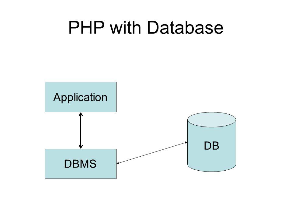 •PHP มีความสามารถในการติดต่อกับฐานข้อมูล ต่างๆ ๆ มากมาย เช่น dBase,Informix,Oracle และ Mysql เป็นต้น รวมทั้งการติดต่อผ่าน ODBC โดย MySQL นับเป็นระบบจัดการ ฐานข้อมูลที่ได้รับความนิยมเป็นอย่างสูงใน ปัจจุบัน เนื่องจากสามารถทำงานข้าม Platform ได้ • ในการใช้ PHP ติดต่อกับระบบจัดการฐานข้อมูล นั้น จำเป็นต้องใช้คำสั่ง SQL ร่วมด้วย
