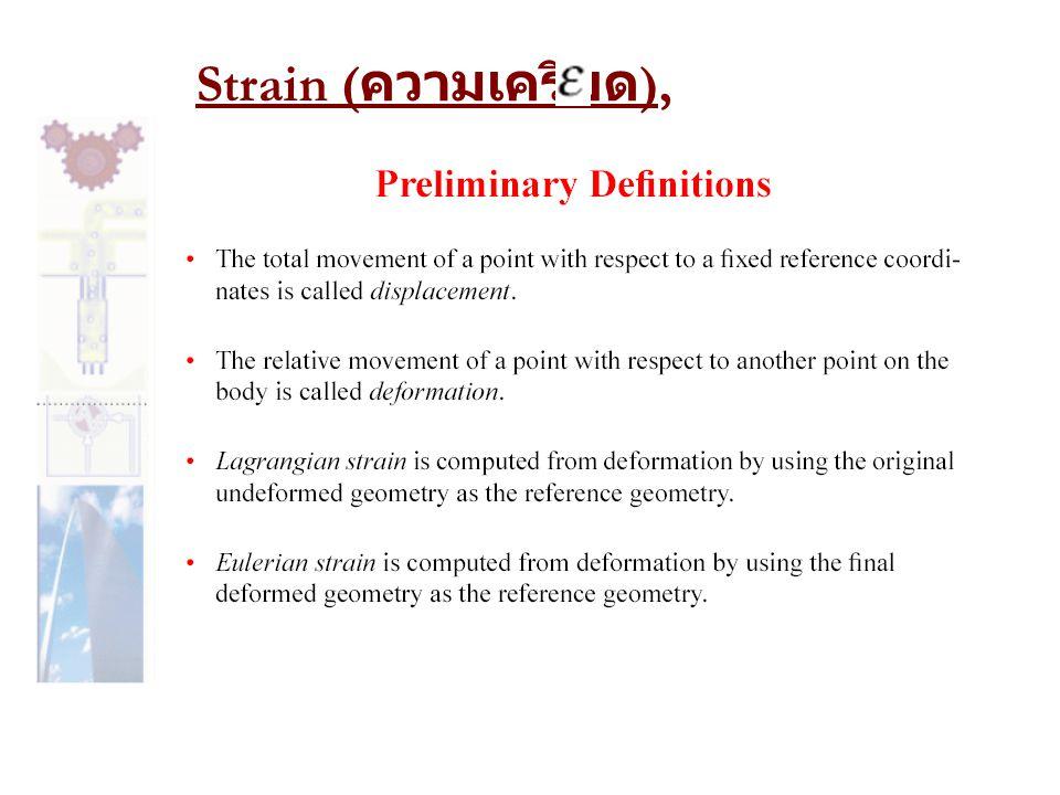 Strain ( ความเครียด ),