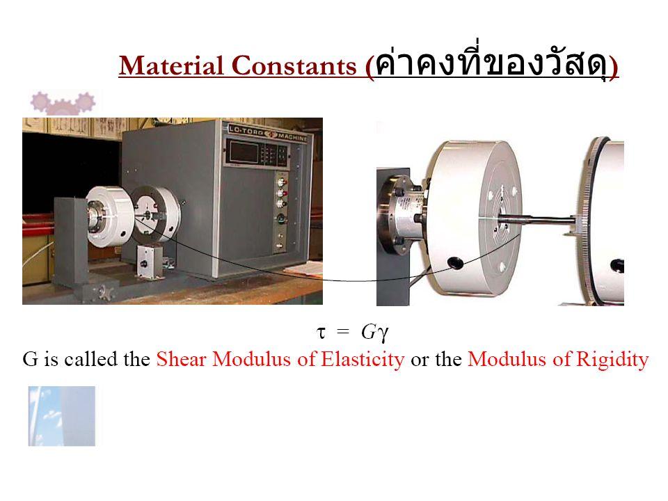 Material Constants ( ค่าคงที่ของวัสดุ )