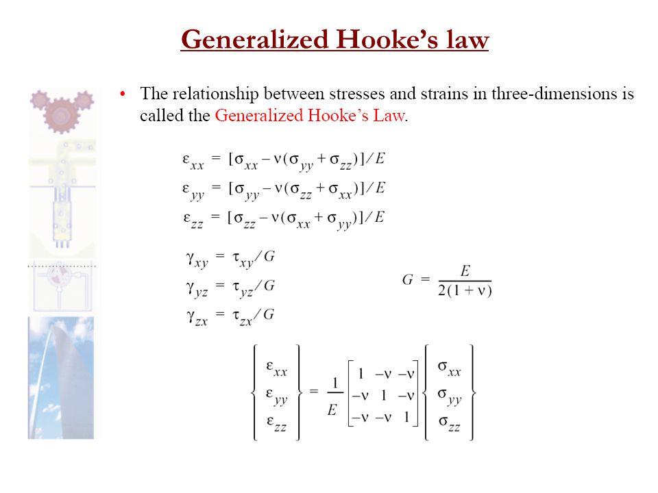 Generalized Hooke's law