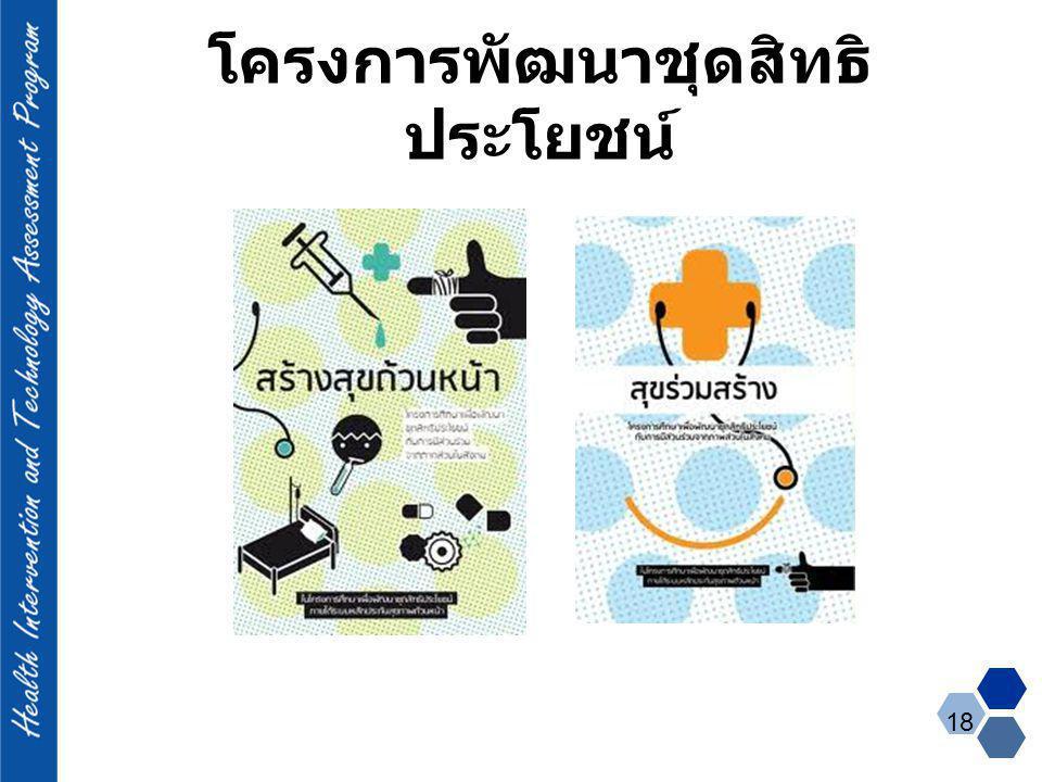 โครงการพัฒนาชุดสิทธิ ประโยชน์ 18