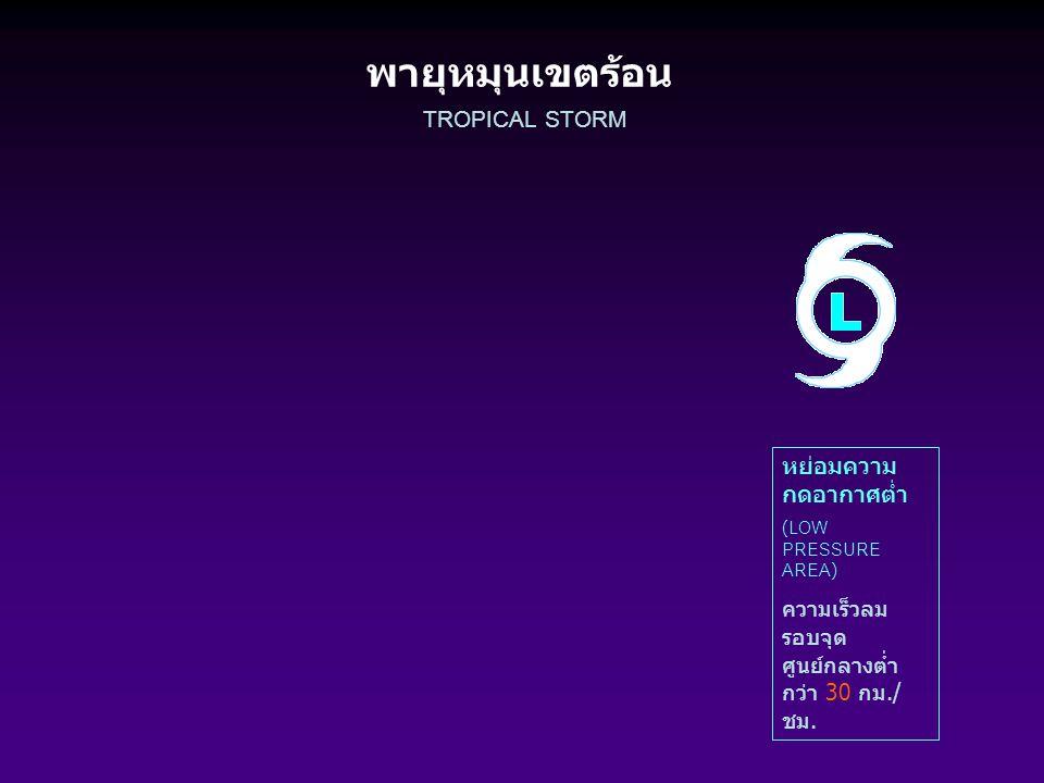 พายุหมุนเขตร้อน TROPICAL STORMS