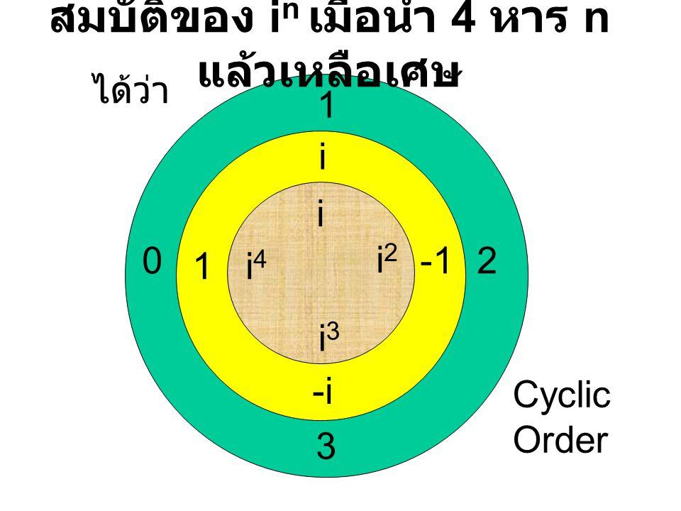 ตรวจสอบสมบัติของการ เป็นกรุ๊ป กับการบวกและการคูณ (a,b)+(c,d) และ (a,b)*(c,d) ผลที่ได้เป็นจำนวนเชิงซ้อน มีสมบัติปิดกับ การบวกและการคูณ (a,b)+{(c,d)+(e,f)}={(a,b)+(c,d)}+(e,f) และ (a,b)*{(c,d)*(e,f)}={(a,b)*(c,d)}*(e,f) มีสมบัติการเปลี่ยนกลุ่มได้กับการบวกและการคูณ