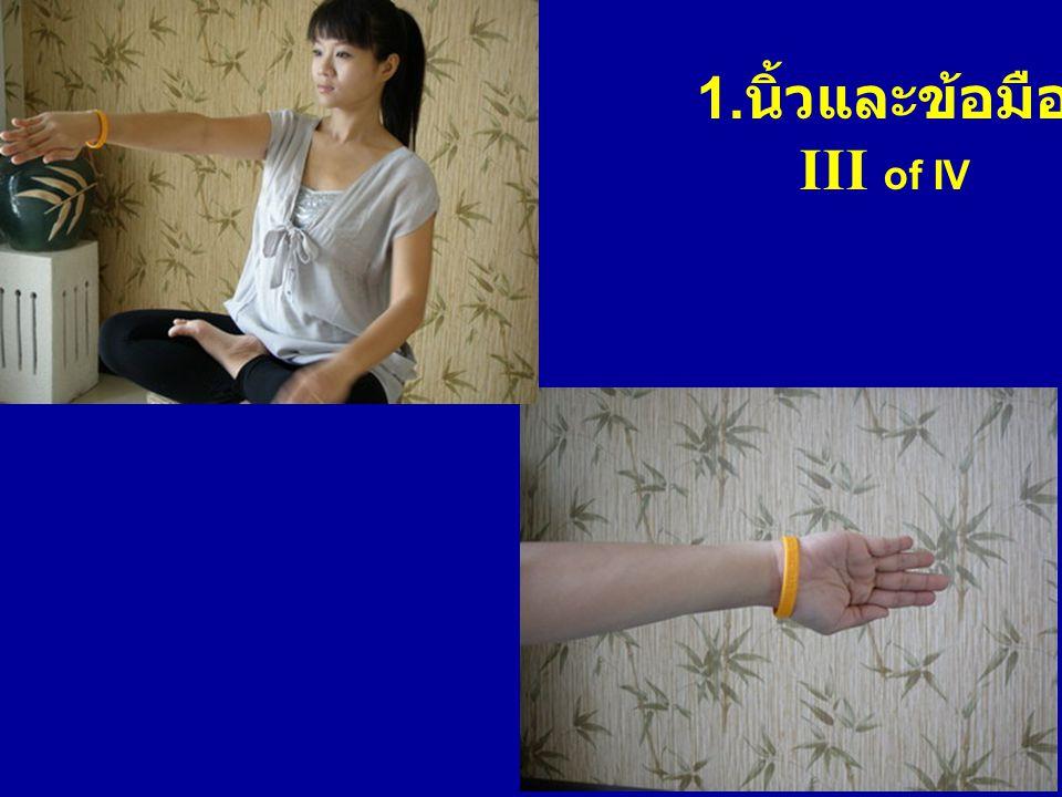 1. นิ้วและข้อมือ III of IV