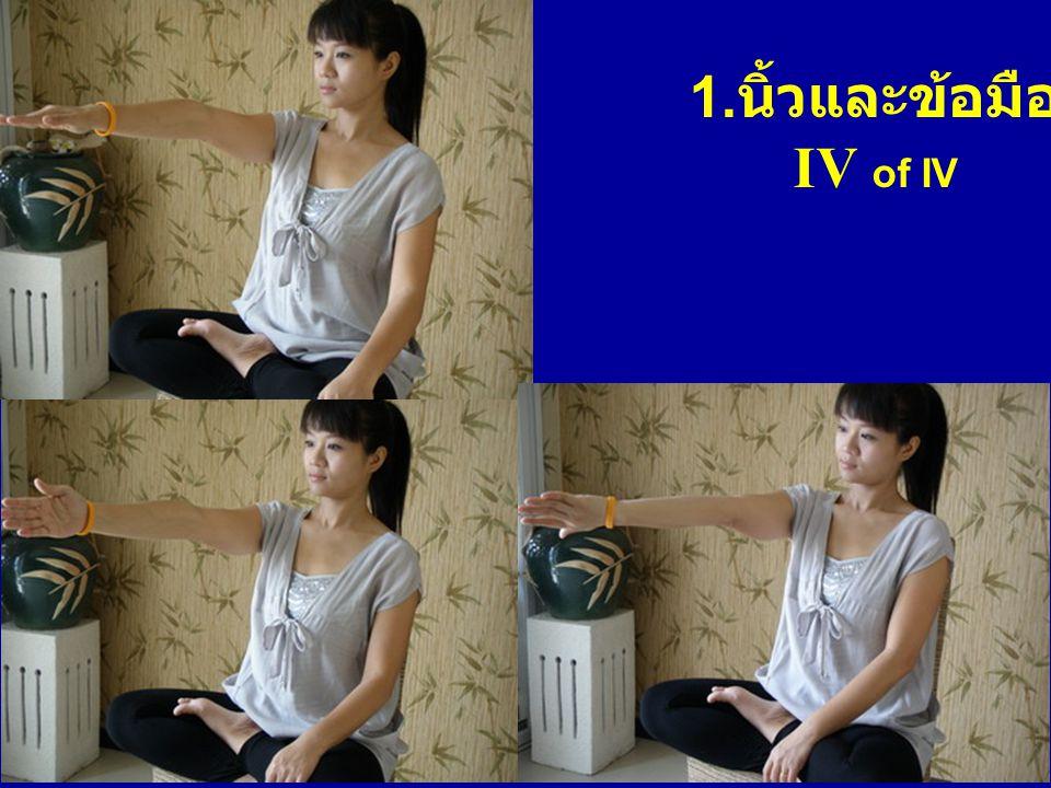1. นิ้วและข้อมือ IV of IV