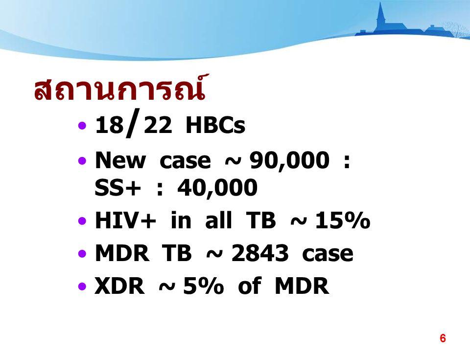 7 วัตถุประสงค์ •International Standards of TB care •Case finding •Record / Report
