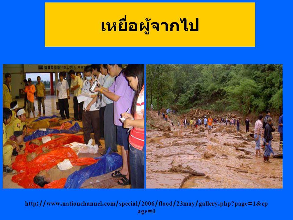 สภาพภูเขาในเขตอำเภอลับแล หลังจากที่มีดินไหลลงจากภูเขาแทบ ทุกลูก http://www.nationchannel.com/special/2006/flood/23may/gallery.php page=1&cp age=0