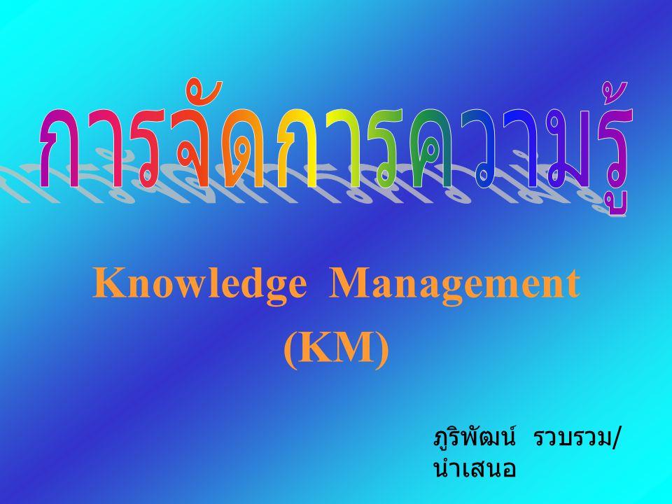 Knowledge Management (KM) ภูริพัฒน์ รวบรวม / นำเสนอ