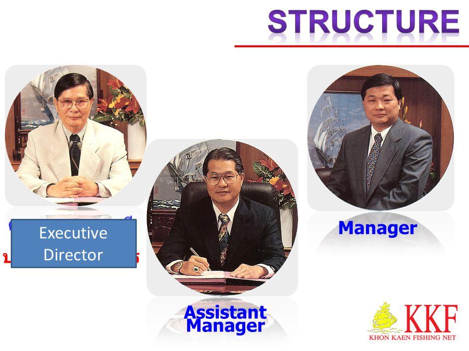คุณบูรพา เสรี โยธิน ประธานกรรมการ Assistant Manager Manager Executive Director