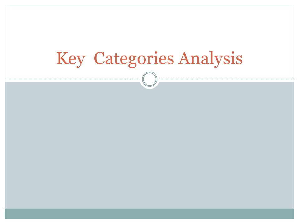 Key Categories Analysis