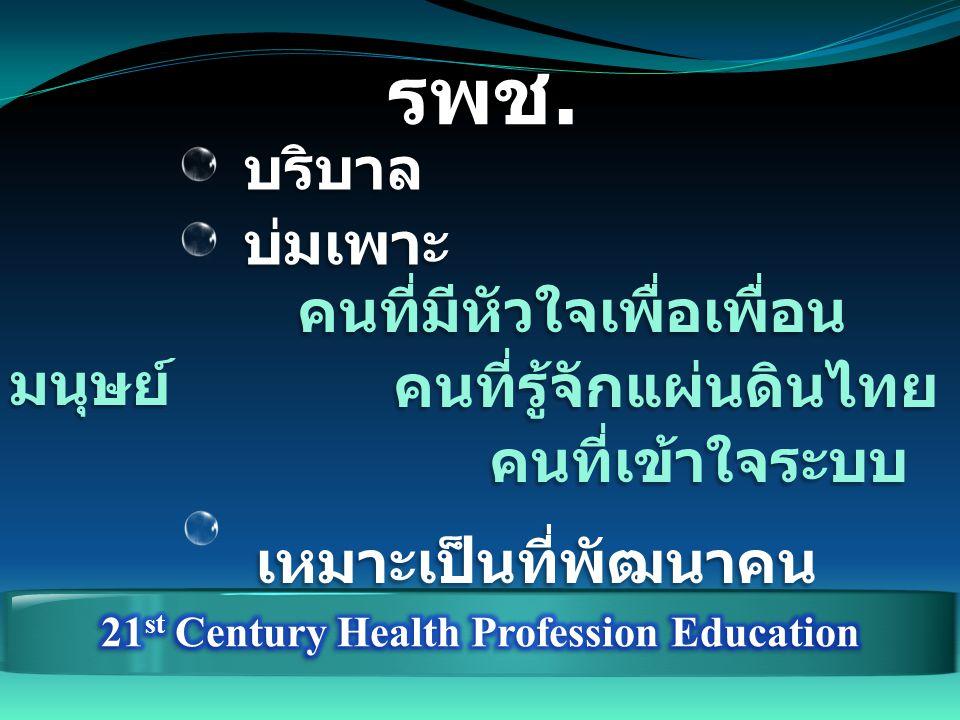 รพช. บริบาล บริบาล บ่มเพาะ บ่มเพาะ คนที่มีหัวใจเพื่อเพื่อน มนุษย์ คนที่รู้จักแผ่นดินไทย คนที่เข้าใจระบบ เหมาะเป็นที่พัฒนาคน เหมาะเป็นที่พัฒนาคน