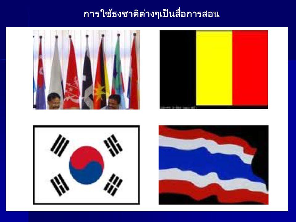 การใช้ธงชาติต่างๆเป็นสื่อการสอน