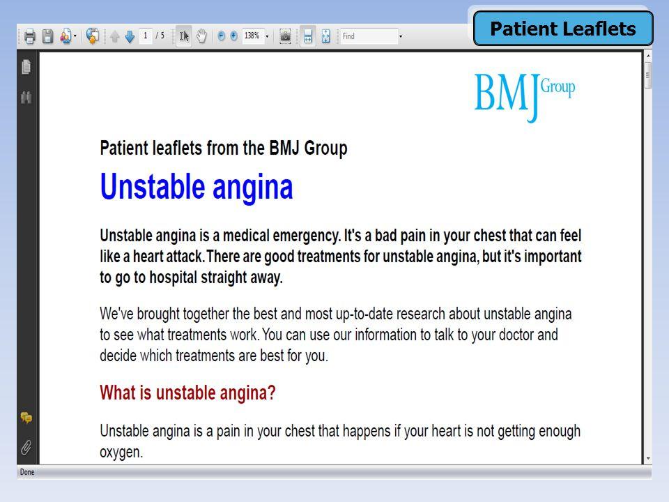 Patient Leaflets