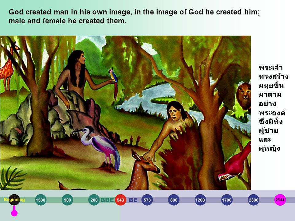 God created man in his own image, in the image of God he created him; male and female he created them.