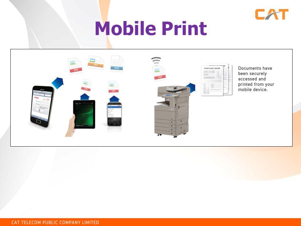 การติดตั้ง HP ePrint • แล้วกำหนดคุณสมบัติให้มี user ของ ePrint เพื่อให้สามารถสั่งพิมพ์มาจากที่ไหนก็ได้ดังรูป