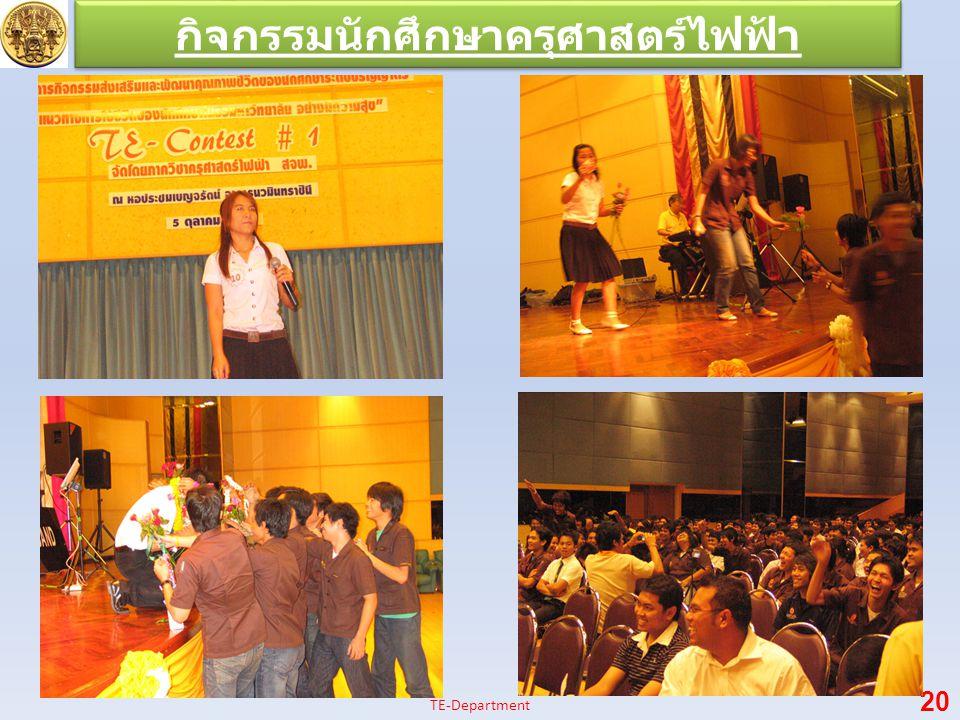 กิจกรรมนักศึกษาครุศาสตร์ไฟฟ้า 20 TE-Department