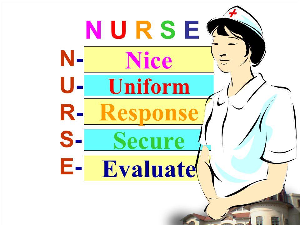 N U R S E N- U- R- S- E- Uniform Secure Evaluate Nice Response