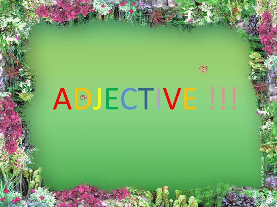 สารบัญ • ความหมายของ Adjective •Descriptive Adjective •Proper Adjective •Quantitative Adjective •Numeral Adjective •Demonstrative Adjective •Possessive Adjective 1 2 3 4 5 6 7