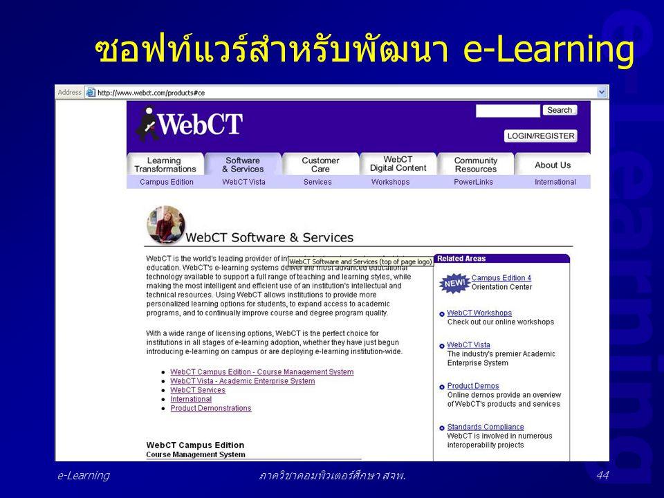 e-Learning ภาควิชาคอมพิวเตอร์ศึกษา สจพ.44 ซอฟท์แวร์สำหรับพัฒนา e-Learning