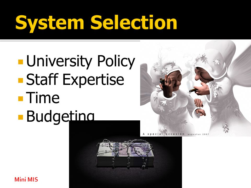  University Policy  Staff Expertise  Time  Budgeting