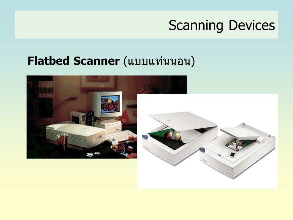 Scanning Devices Flatbed Scanner (แบบแท่นนอน)