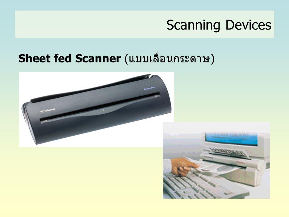 Sheet fed Scanner (แบบเลื่อนกระดาษ) Scanning Devices