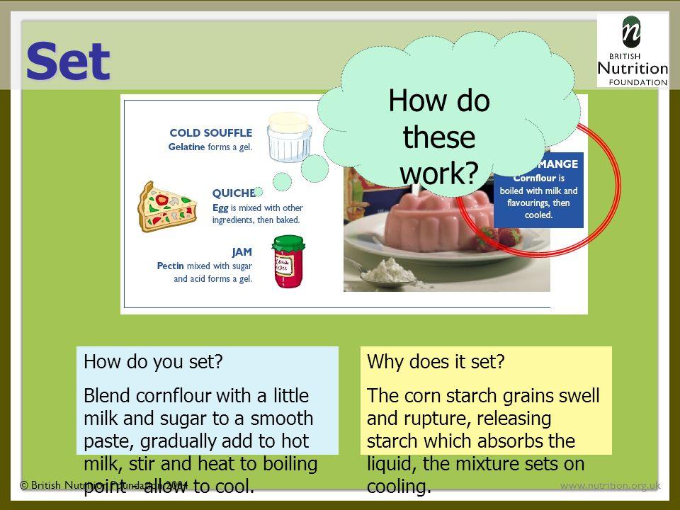 © British Nutrition Foundation 2004www.nutrition.org.uk How do you set.