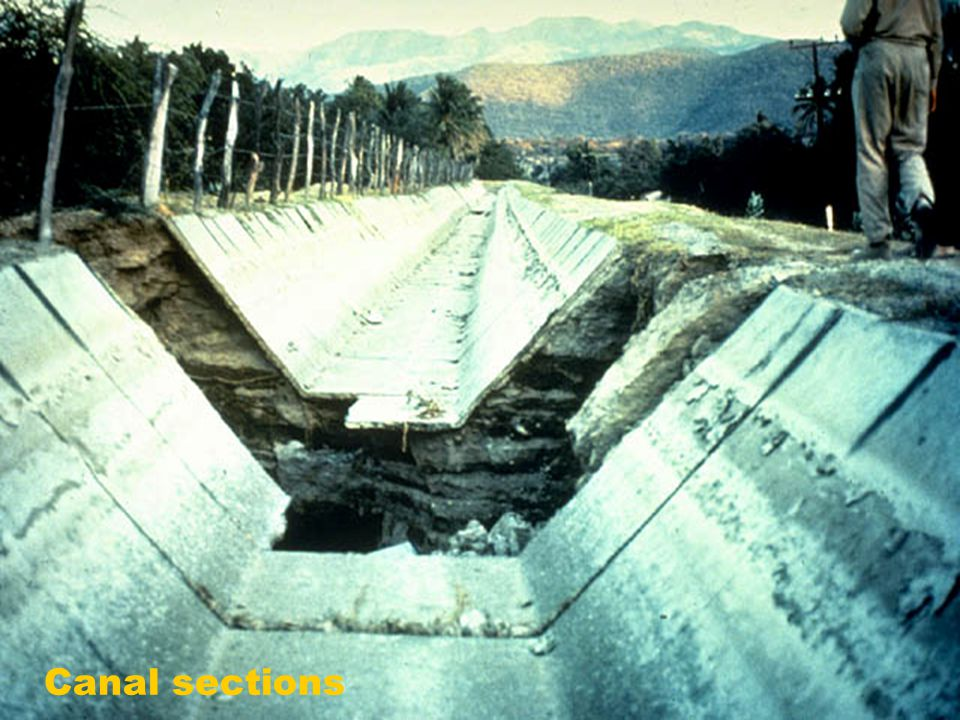 Canal sections