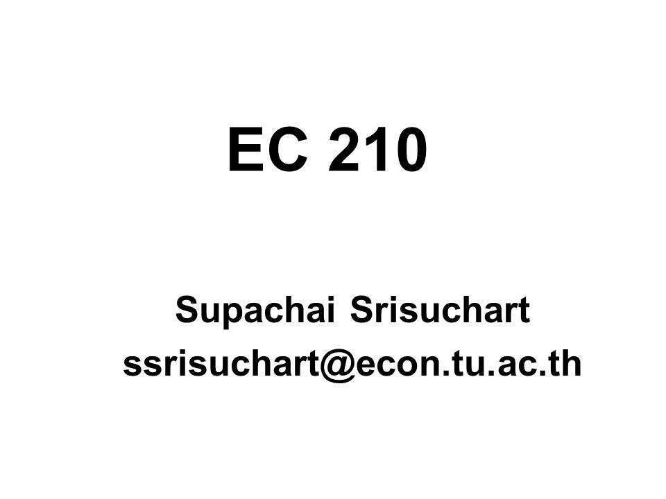 EC 210 Supachai Srisuchart ssrisuchart@econ.tu.ac.th