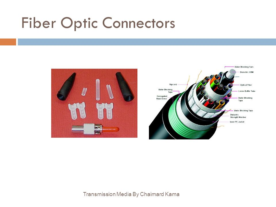 Fiber Optic Connectors Transmission Media By Chaimard Kama