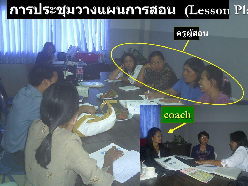 การประชุมวางแผนการสอน (Lesson Planning) coach ครูผู้สอน