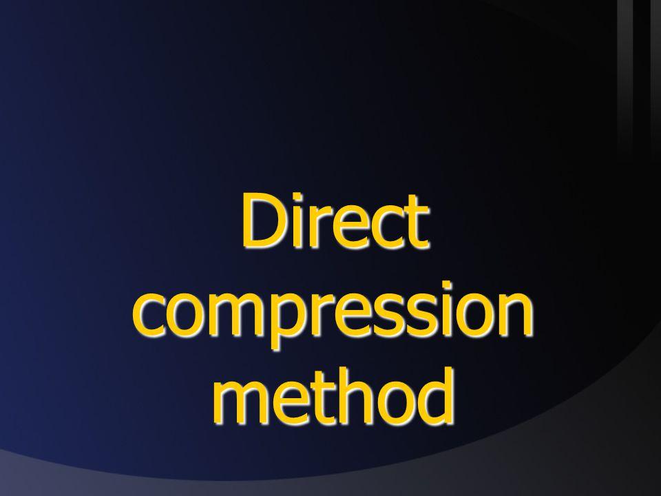 Direct compression method