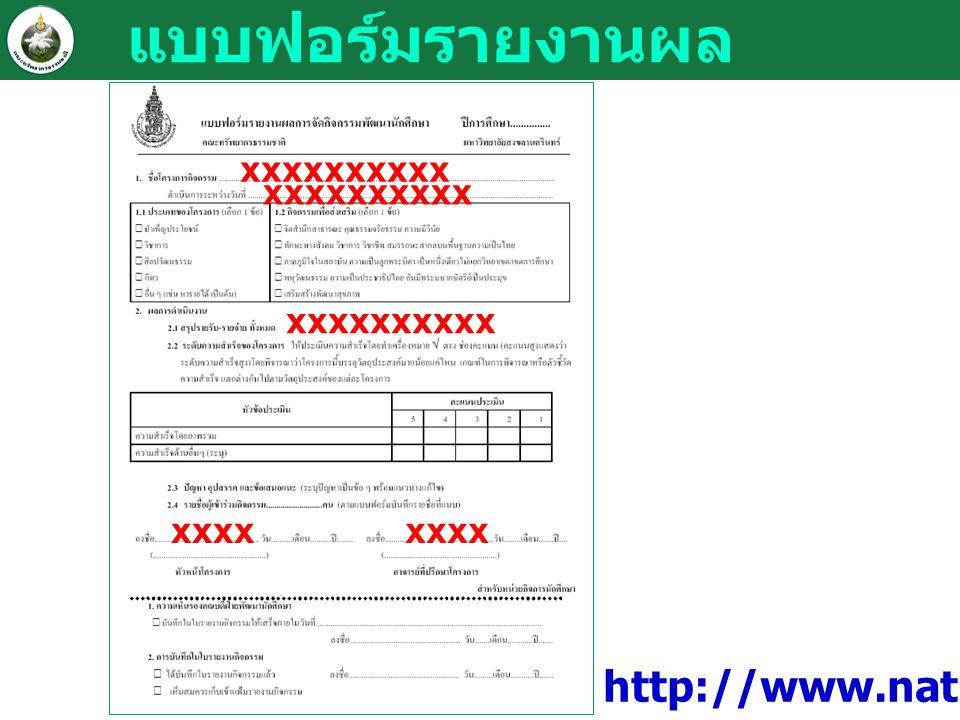 แบบฟอร์มรายงานผล xxxxxxxxxx xxxx xxxxxxxxxx xxxx xxxxxxxxxx http://www.natres.psu.ac.th/