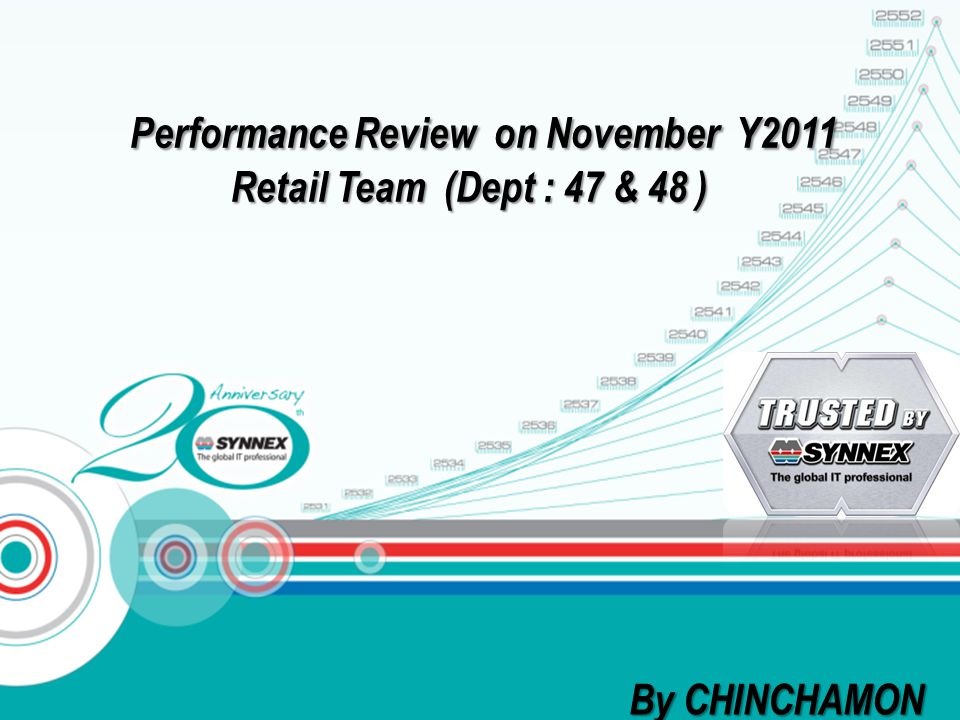 Performance Review on November Y2011 Retail Team (Dept : 47 & 48 ) Performance Review on November Y2011 Retail Team (Dept : 47 & 48 ) By CHINCHAMON
